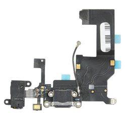 FLEX IPHONE 5 töltő csatlakozó Fekete [OU]