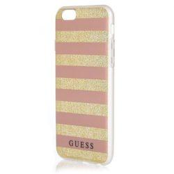 Guess GUHCP6STGPI iPhone 6 / 6S rózsaszín Hardcase Etnikai Chic Stripes 3D telefon tok telefontok (hátlap)