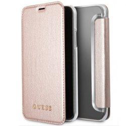 Guess GUFLBKPXIGLTRG iPhone X rózsa arany / różowo - złoty tok Színjátszó tok telefon tok hátlap