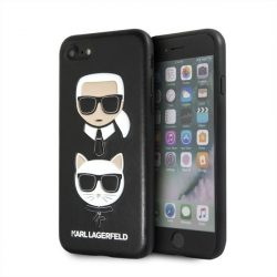 Karl Lagerfeld KLHCI8KICKC iPhone 7/8 Hardcase fekete Karl & Choupette telefon tok telefontok