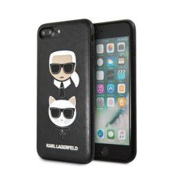 Karl Lagerfeld KLHCI8LKICKC iPhone 7/8 Plus Hardcase fekete Karl & Choupette telefon tok telefontok (hátlap)