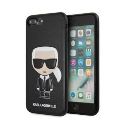 Karl Lagerfeld KLHCI8LIKPUBK iPhone 7/8 Plus Hardcase fekete Ikonikus Karl Dombornyomott tok telefon tok hátlap