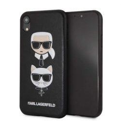 Karl Lagerfeld KLHCI61KICKC iPhone Xr Hardtelefon tok hátlap tok fekete Karl & Choupette