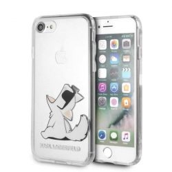 Karl Lagerfeld KLHCI8CFNRC iPhone 7/8 Hardtelefon tok hátlap tok átlátszó Choupette Fun