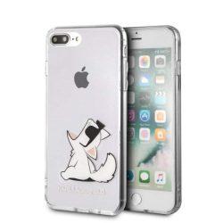 Karl Lagerfeld KLHCI8LCFNRC iPhone 7/8 Plus Hardtelefon tok telefontok (hátlap) tok átlátszó Choupette Fun