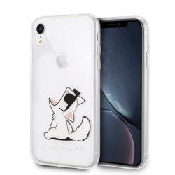 Karl Lagerfeld KLHCI61CFNRC iPhone Xr Hardcase átlátszó Choupette Fun telefon tok telefontok