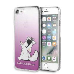 Karl Lagerfeld KLHCI8CFNRCPI iPhone 7/8 Hardtelefon tok hátlap tok różowy / rózsaszín Choupette Fun
