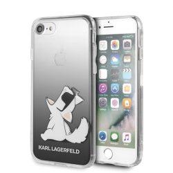 Karl Lagerfeld KLHCI8CFNRCBK iPhone 7/8 Hardcase fekete Choupette Fun tok telefon tok hátlap