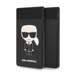 Karl Lagerfeld Powerbank KLPB4KFKIKBK 4000 mAh fekete Karl Ikonikus
