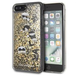 Karl Lagerfeld KLHCI8LROGO iPhone 7/8 Plus czarno - złoty / fekete - arany Glitter telefon tok telefontok