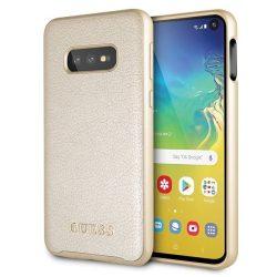 Guess GUHCS10LIGLGO S10e G970 złoty / arany Színjátszó Samsung Galaxy tok telefon tok hátlap