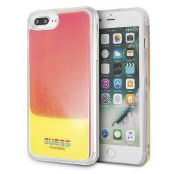 Guess GUHCI8LGLCPI iPhone 7/8 Plus rózsaszín / rózsaszín kemény tok California világít a sötétben tok telefon tok hátlap