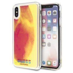 Guess GUHCPXGLCPI iPhone X / X - rózsaszín / rózsaszín kemény tok California világít a sötétben tok telefon tok hátlap