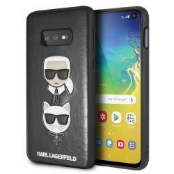 Karl Lagerfeld KLHCS10LKICKCSBK S10e G970 Hardcase fekete Karl & Choupette Samsung Galaxy tok telefon tok hátlap