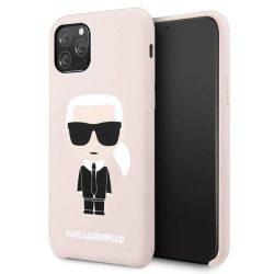 Etui Karl Lagerfeld KLHCN58SLFKPI iPhone 11 Pro kemény tok világos rózsaszín szilikon Ikonikus telefontok