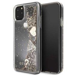 Guess GUHCN65GLHFLGO iPhone Pro Max 11 arany / arany nehéz eset Glitter szívek tok telefon tok hátlap