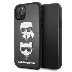 Karl Lagerfeld KLHCN58KICKC 11 Pro iPhone Hardcase fekete Karl & Choupette telefon tok telefontok (hátlap)