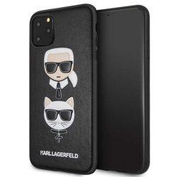 Karl Lagerfeld iPhone KLHCN65KICKC 11 Pro Max Hardcase fekete Karl & Choupette telefon tok telefontok (hátlap)