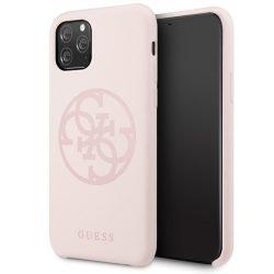 Guess GUHCN58LS4GLP iPhone 11 Pro világos rózsaszín / halvány rózsaszín Hardcase Szilikon 4G árnyalatnyi telefon tok telefontok (hátlap)