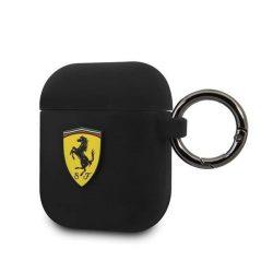 Ferrari FESACCSILSHBK AirPods védő fekete Szilikon tok