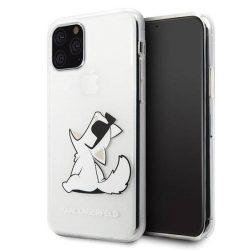 Karl Lagerfeld KLHCN58CFNRC iPhone 11 Pro kemény tok átlátszó Choupette Fun telefontok hátlap tok