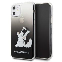 Karl Lagerfeld KLHCN61CFNRCBK 11 iPhone Hardcase fekete Choupette Fun telefon tok telefontok