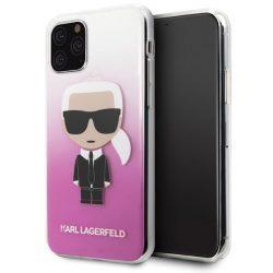 Karl Lagerfeld KLHCN58TRDFKPI iPhone 11 Pro pink / rózsaszín gradiens Karl Ikonik telefon tok telefontok (hátlap)