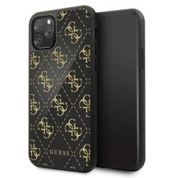 Guess GUHCN584GGPBK iPhone 11 Pro czarny / fekete kemény tok 4G kétrétegű Glitter telefontok hátlap tok