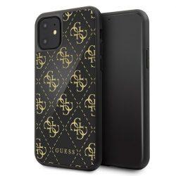 Guess iPhone GUHCN614GGPBK 11 fekete kemény tok 4G kétrétegű Glitter tok telefon tok hátlap