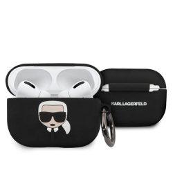 Etui Karl Lagerfeld KLACAPSILGLBK AirPods Pro telefontok fekete Szilikon Ikonik Karl Lagerfeld / KF000310 KF000310