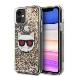Karl Lagerfeld KLHCN61LCGLGO iPhone 11 tok arany Glitter Choupette telefontok