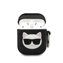 Karl Lagerfeld KLACA2SILCHBK AirPods telefontok fekete Szilikon Choupette
