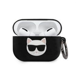 Karl Lagerfeld KLACAPSILCHBK AirPods Pro telefontok fekete Szilikon Choupette