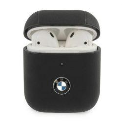 BMW BMA2CSLBK AirPods telefontok fekete bőr Geniune Signature