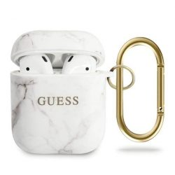 Guess GUACA2TPUMAWH AirPods terjed fehér / fehér Marble Collection telefontok