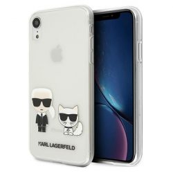 Karl Lagerfeld KLHCI61CKTR iPhone Xr tok Átlátszó Karl & Choupette telefontok
