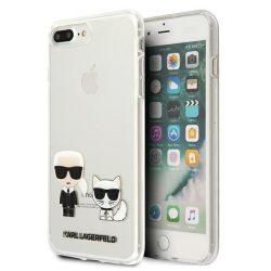 Karl Lagerfeld KLHCI8LCKTR iPhone 7/8 Plus tok Átlátszó Karl & Choupette telefontok