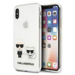 Karl Lagerfeld KLHCPXCKTR iPhone X / Xs tok Átlátszó Karl & Choupette telefontok