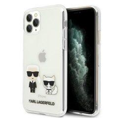 Karl Lagerfeld KLHCN58CKTR iPhone 11 Pro kemény tok átlátszó Karl & Choupette telefontok