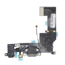 FLEX IPHONE 5S töltő csatlakozó Fekete