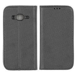 Flip Tok Mágneses Samsung J320 Galaxy J3 2016 Fekete Telefontok