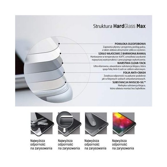 3MK HardGlass Max Samsung A905 A90 fekete, FullScreen Edzett Üvegfólia kijelzőfólia üvegfólia tempered glass
