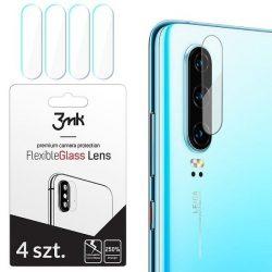 3MK FlexibleGlass Lens Huawei P30 hibrid üveg kamera lencsére 4db kijelzőfólia üvegfólia tempered glass