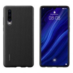 Huawei védő telefon tok telefontok (hátlap) PU Cover Huawei P30 fekete (51.992.992)