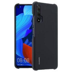 Huawei védőtok PC átlátszó telefontok Huawei Nova 5T fekete telefontok hátlap tok