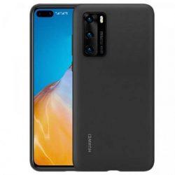 Huawei Yzilikon tok puha, hajlékony szilikon védőborítás Huawei P40 fekete (51993719) telefontok