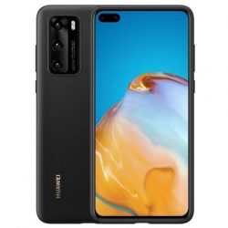 Huawei védőtok PC átlátszó telefontok Huawei P40 Pro fekete telefontok