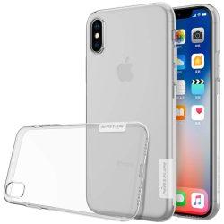 Nillkin Nature TPU tok telefon tok hátlap Gel Ultravékony Cover iPhone XS / X átlátszó