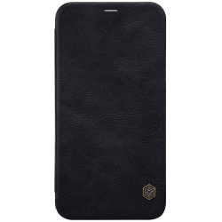 Nillkin Qin eredeti bőr tok telefon tok hátlap iPhone XS / X fekete