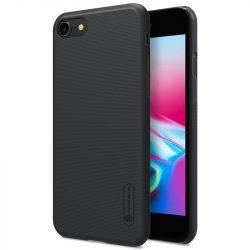 Nillkin Super Frosted Shield tok + kitámasztó iPhone SE 2020 / iPhone 8 / iPhone 7 fekete telefontok